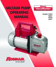 Robinair SPX Models 15300 15301 15500 15501 Owners Manual page 1