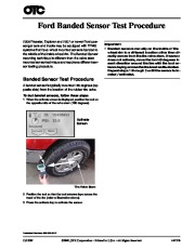 Robinair SPX Ford Banded Sensor Test Procedure Owners Manual page 1