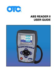 SPX OTC ABS READER II USER GUIDE page 1