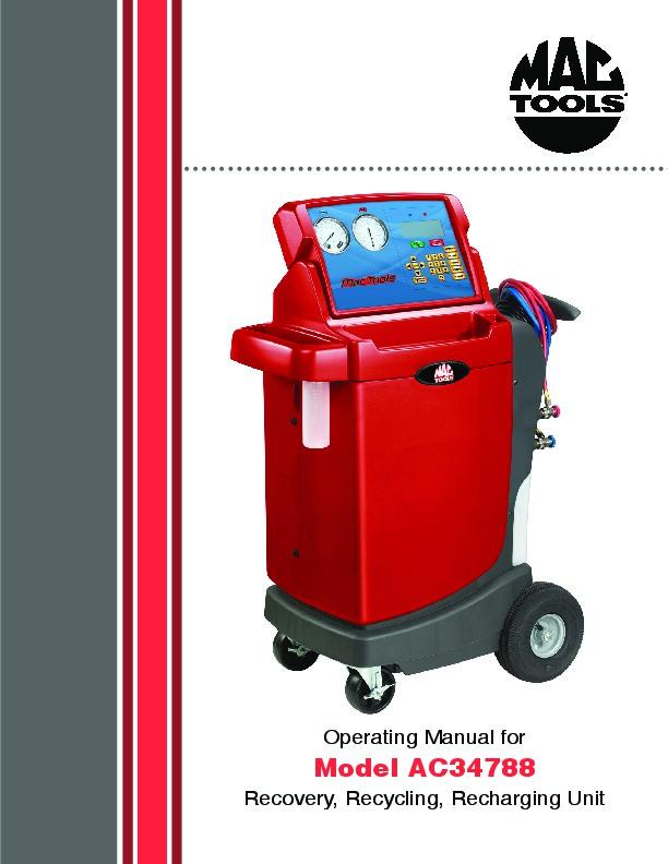 robinair ac machine manual