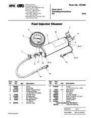 SPX OTC 7448 Fueljector Cleaner Owners Manual page 1