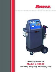 Robinair SPX J 48943 Recovery Recycling Recharging Unit Owners Manual page 1