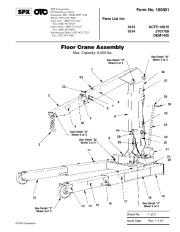 SPX OTC 1813 ACTP 10615 1814 JT01709 OEM1405 Floor Crane Assembly Owners Manual page 1