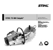 STIHL TS 400 Cut Off Saw Miter Circular Saw Owners Manual page 1