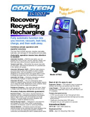 Robinair SPX 34700Z Recovery Recycling Recharging Fully Automatic Specifications page 1