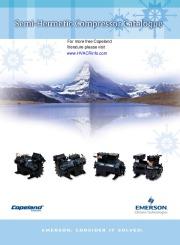 Emerson Copeland Semi Hermetic Compressor Catalogue page 1
