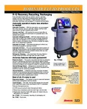 Robinair SPX 17700Z FLUID PRODUCTS Recovery Recycling R 12 Specifications page 1