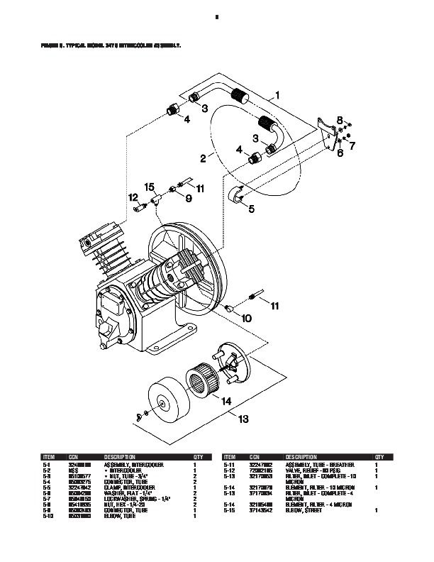 Ingersoll Rand 2475 Air Compressor Parts List Manual 6 ingersoll rand 2475 air compressor parts list