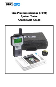 Robinair SPX OTC 3833 Tire Pressure Monitor Tester Manual page 1