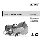 STIHL TS 700 800 Cut Off Saw Miter Circular Saw Owners Manual page 1