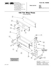 SPX OTC 1857 1858 60534 100 Ton Shop Press Frame Assembly Pump Owners Manual page 1