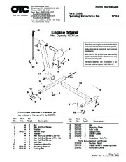 SPX OTC 1726 Engine Stand Owners Manual page 1