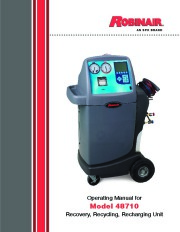 Robinair SPX 48710 Recovery Recycling Recharging Unit Owners Manual page 1