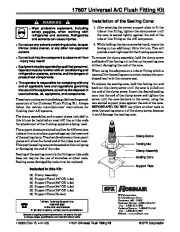 Robinair SPX 17607 Universal AC Flush Fitting Kit Owners Manual page 1