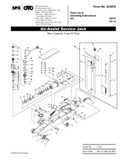 SPX OTC 1507A 1511A Air Assist Service Jack Owners Manual page 1