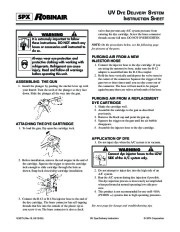 Robinair SPX UV DYE DELIVERY SYSTEMS TRUCTION SHEET Owners Manual page 1