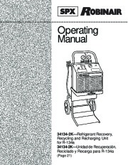 Robinair SPX 34134 2K Refrigerant Recovery Recycling Owners Manual page 1