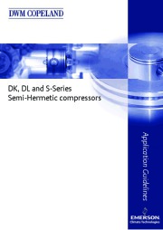 Emerson Copeland DK DL S Series Semi Hermetic Compressor Manual page 1