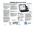 Robinair SPX TIF 9020A Electronic Scale Owners Manual page 1