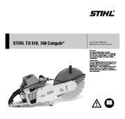 STIHL TS 510 760 Cut Off Saw Miter Circular Saw Owners Manual page 1