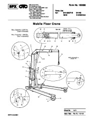 SPX OTC 014 00071B 61146 1819 D 01001AA Mobile Floor Crane Owners Manual page 1