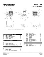 Ingersoll Rand SS3R2 GM Air Compressor Parts List Manual page 1
