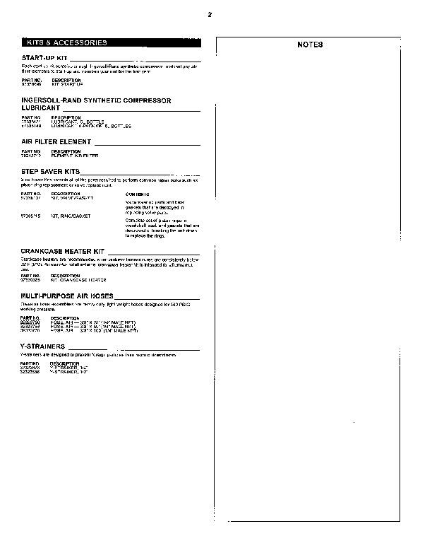 ingersoll rand ss3r2 gm air compressor parts list manual