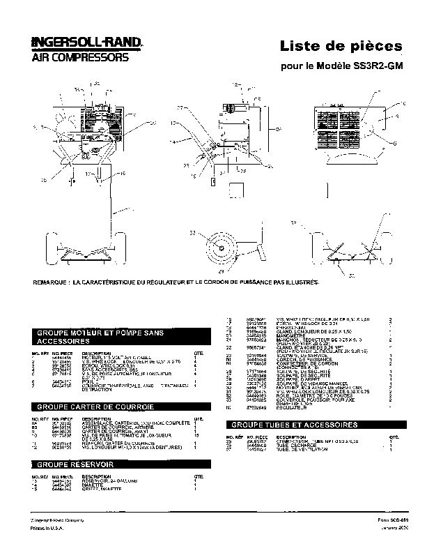 480 3 phase 5 wire diagram ingersoll rand ss3r2 gm air compressor parts list manual
