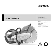 STIHL TS 410 420 Cut Off Saw Miter Circular Saw Owners Manual page 1