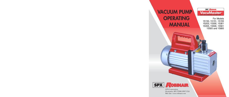 Robinair SPX For Models 15150 15151 15155 15203 15300 15301 15355 15500 Owners Manual 1 robinair spx 15150 15151 15155 15203 15300 15301 15355 15500 15501 Robinair 15500 Parts Breakdown at bakdesigns.co