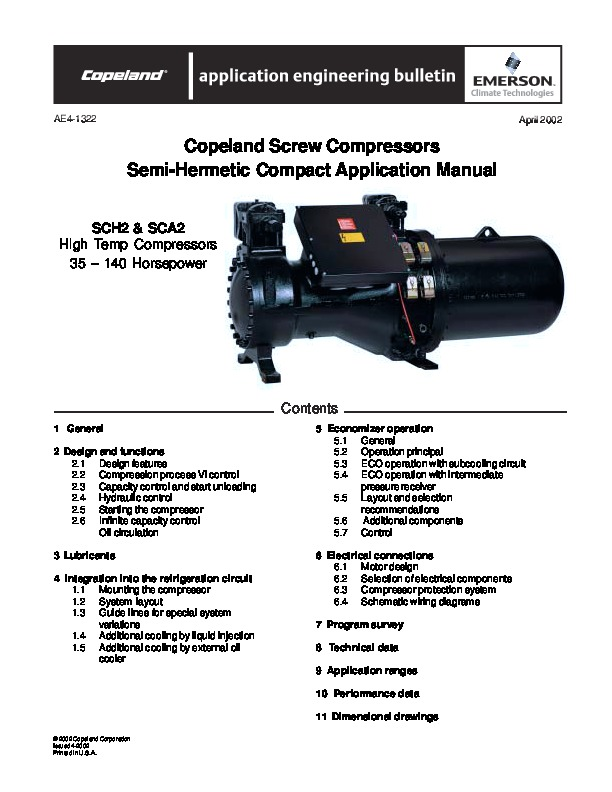 emerson copeland ae4 1322 copeland screw compressor manual rh needmanual com Capacitors for Compressor Wiring Diagram Hermetic Compressor Wiring Diagram