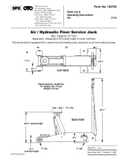 SPX OTC 5110 Air Hydraulic Floor Service Jack Owners Manual page 1