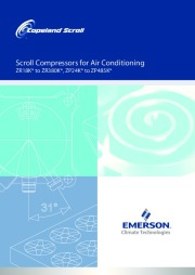 Emerson Copeland ZR18K ZR380K ZP24K ZP485K Scroll Compressors For Air Conditioning Owners Manual page 1