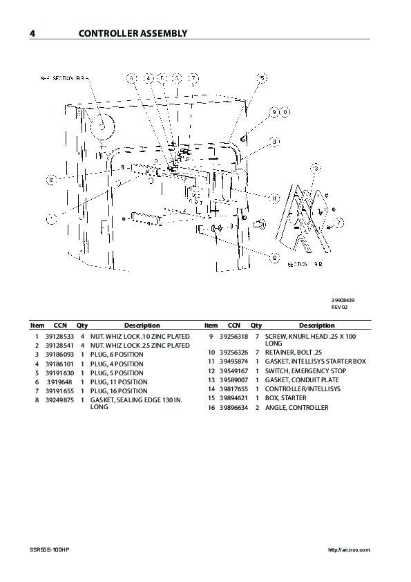 Ingersoll Wiring Rand Diagram Compressor Ssr Xf on
