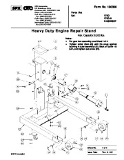 SPX OTC 1750 A D 05223ST Lift Table Heavy Duty Engine Repair Stand Owners Manual page 1