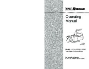 Robinair SPX 15234 15226 15296 Two Stage Vacuum Pump Operating Manual 1 2 Cfm At 60 Hz page 1