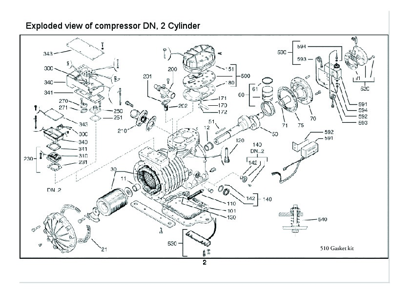 emerson copeland spare parts list dn dm d9 compressor parts