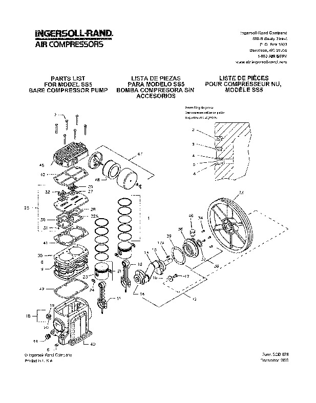 for electronic ignition wiring diagram for ih ingersoll rand ss3 ss5 air compressor owners manual