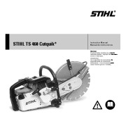 STIHL TS 460 Cut Off Saw Miter Circular Saw Owners Manual page 1