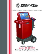 Robinair SPX RA C34788 Recovery Recycling Recharging Unit Owners Manual page 1