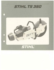 STIHL TS 350 Cut Off Saw Miter Circular Saw Owners Manual page 1