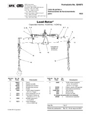 SPX OTC 1822 Load Rotor Owners Manual page 1