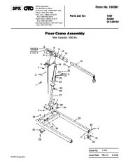 SPX OTC 1807 60299 014 00133 Floor Crane Assembly Owners Manual page 1
